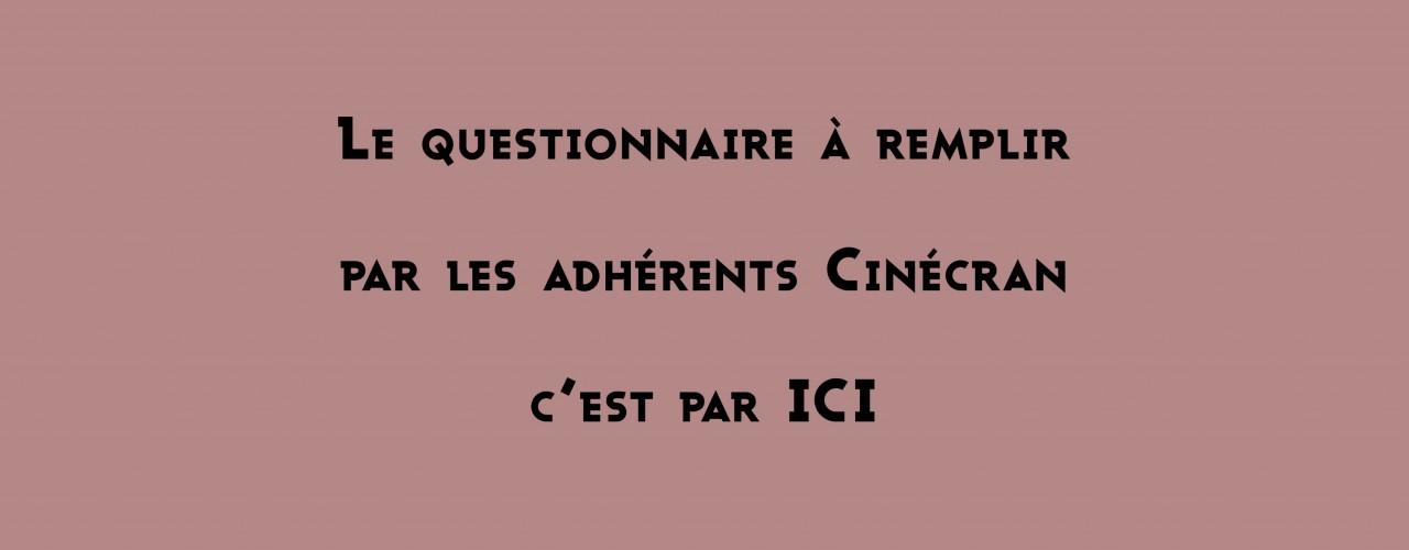 Questionnaire adhérents